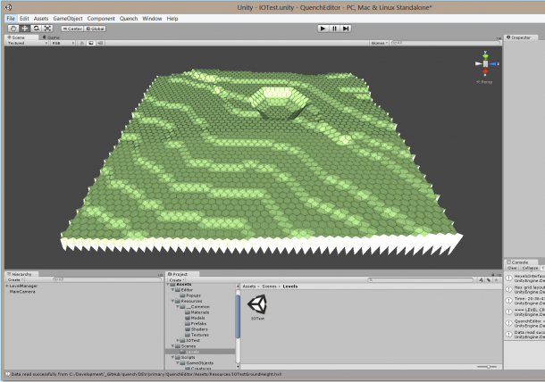 Hexels level import using colour method